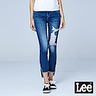 Lee 9分中腰緊身窄管牛仔褲/101+