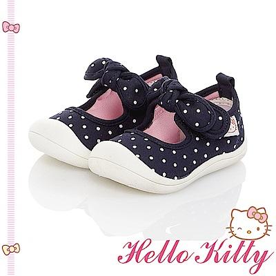 HelloKitty 點點系列 輕量減壓防滑室內外娃娃童鞋-藍