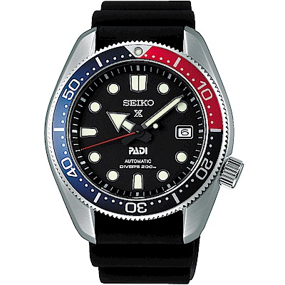 SEIKO精工 Prospex PADI聯名200米潛水機械錶(SPB087J1)-黑