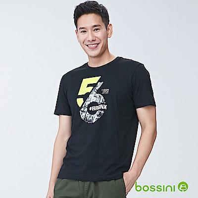 bossini男裝-印花短袖T恤09黑