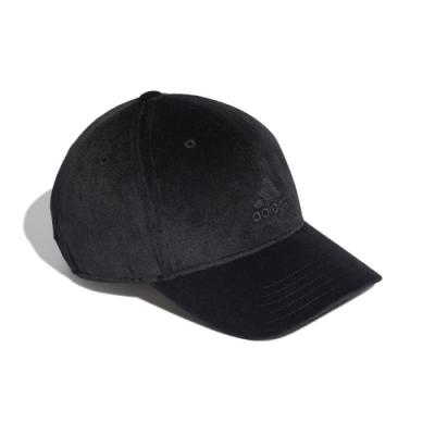 adidas 棒球帽 Velvet Baseball Cap 愛迪達 天鵝絨 可調式 遮陽 防曬 抗紫外線 黑 FS9006