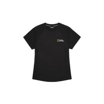 NATIONAL GEOGRAPHIC  Women Dry Short Sleeve Tee 女短袖T恤-炭黑-N212WTS230198