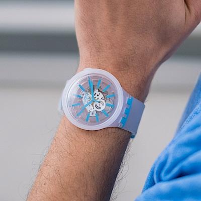 Swatch BIG BOLD系列手錶 BLUEINJELLY 透淨藍-47mm