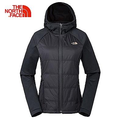 The North Face北面女款黑色無縫連帽外套 3L9AJK3