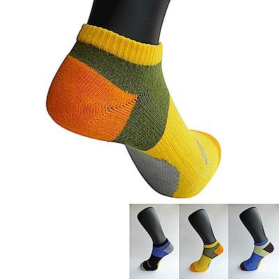 三合豐 ELF 男性加大尺碼精梳棉氣墊底慢跑襪/運動襪-6雙