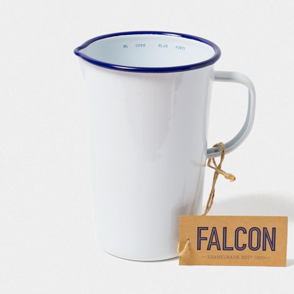 Falcon 獵鷹琺瑯 琺瑯2品脫冷水壺 1.1L 藍白