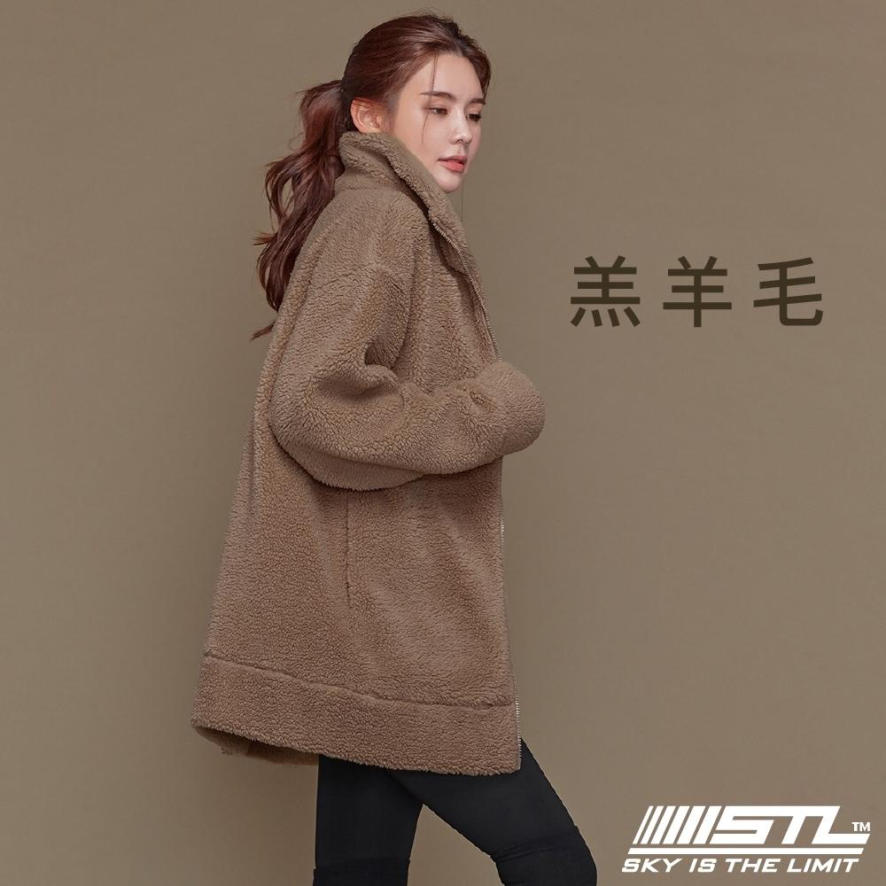 STL Bosong Metro Zip up 韓國 羔羊毛 運動休閒立領長版保暖外套 奶油泰迪棕PuppyBrown