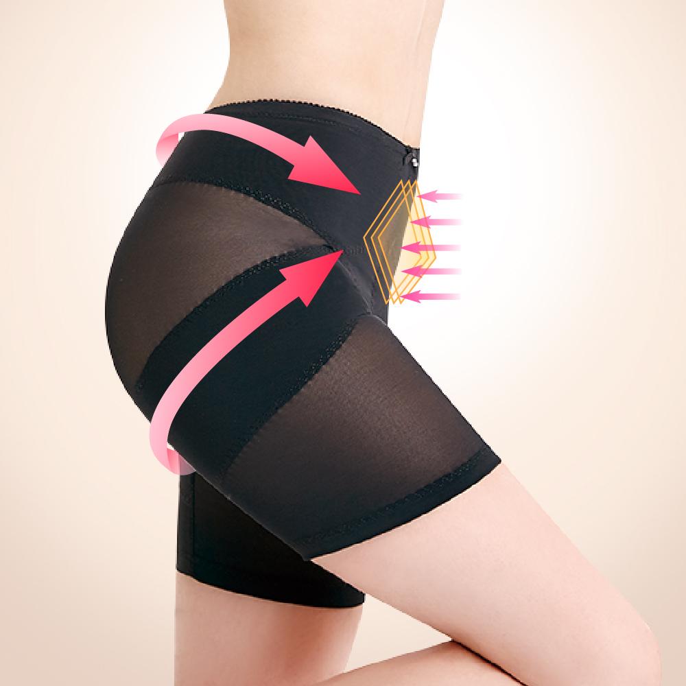 塑身褲 美尻平腹機能M-2XL骨盆褲 神秘黑 可蘭霓Clany