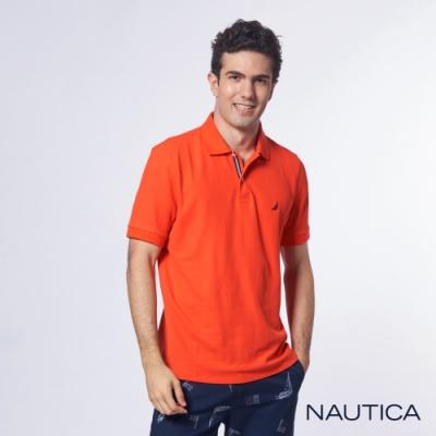 Nautica 機能型經典吸濕排汗短袖POLO衫-橘