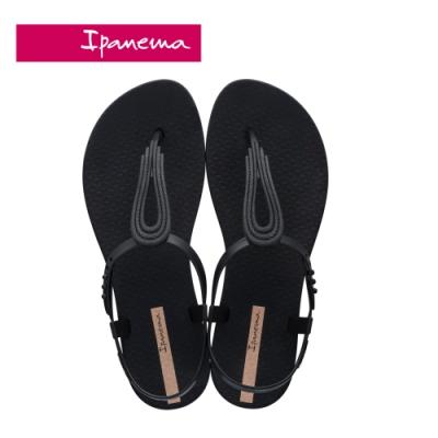 IPANEMA CLASS POP IV 水滴鏤空T字涼鞋-黑