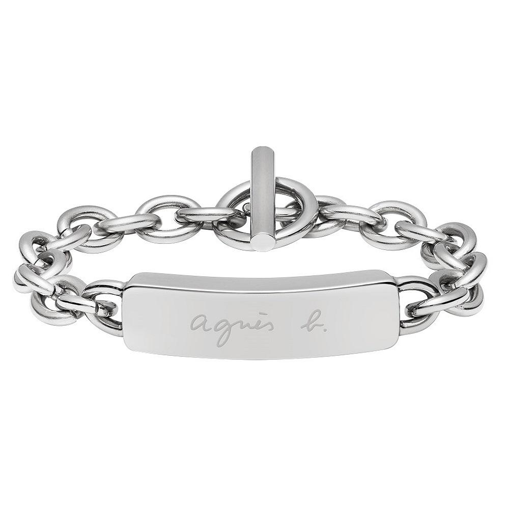 agnes b. logo品牌男性手鍊