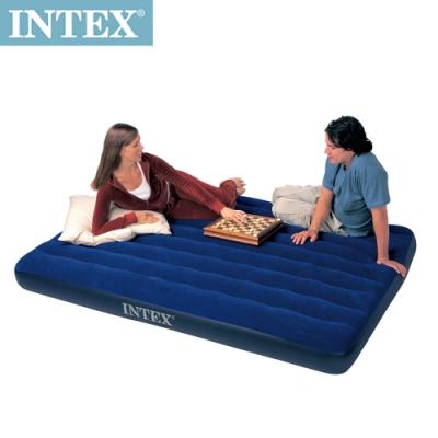 INTEX 雙人加大植絨充氣床墊-寬152cm(68759)