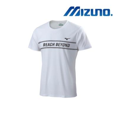 Mizuno 美津濃 男短袖T恤 白 32TA900701