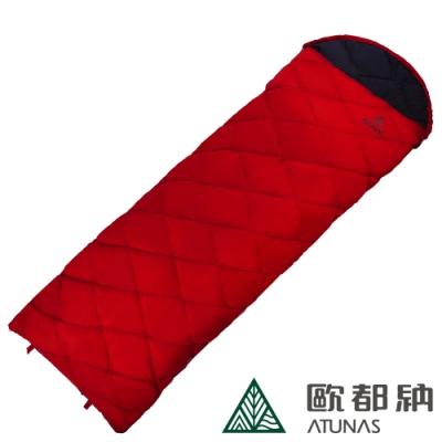 【ATUNAS 歐都納】350 NATURE經典羽絨保暖睡袋A2SBBB01N紅/登山露營/背包客