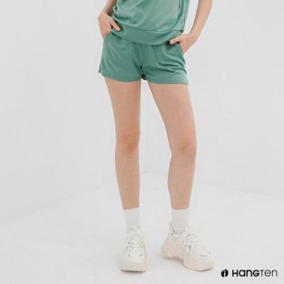Hang Ten-女裝-恆溫多功能-REGULAR FIT標準鳥眼吸排紗涼感抗菌除臭運動短褲-綠色