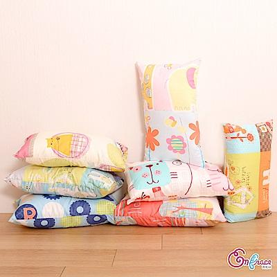 Embrace英柏絲 美國棉 精梳棉 防蹣抗菌 兒童小枕頭27x45cm