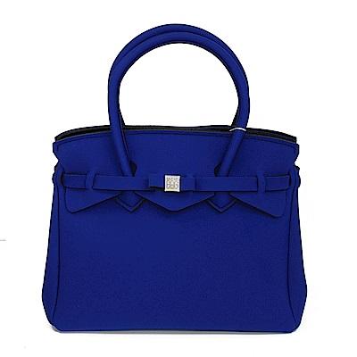 SAVE MY BAG 義大利品牌 MISS系列 深海藍超輕量手提托特包
