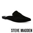 STEVE MADDEN-FLAVOR 經典款極素尖頭底跟穆勒鞋-絨黑