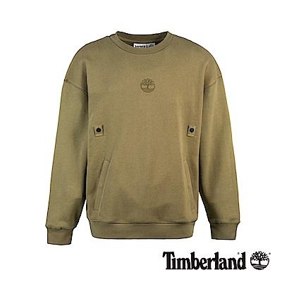 Timberland 男款橄欖綠套頭衛衣|A1XS6