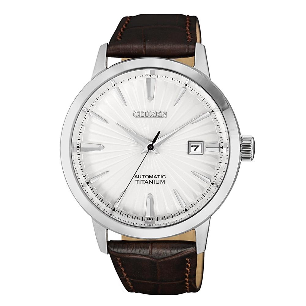 CITIZEN星辰 紳仕氣度鈦金屬機械腕錶NJ2180-11A