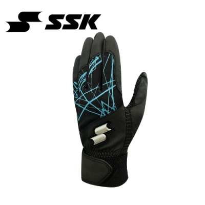 SSK   打擊手套    單支   黑/湖水藍   BG601S-9067