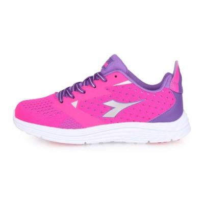 DIADORA 女健走運動鞋-慢跑 路跑 桃紅紫銀