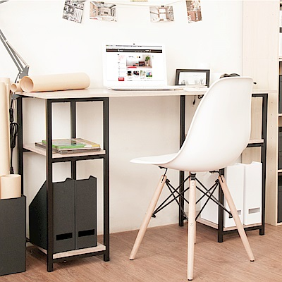 《HOPMA》DIY巧收工業風雙邊層架工作桌
