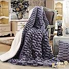 Betrise迷戀紫   3D親膚/奢華仿貂毛羊羔絨雙面毯180*200(激厚加大升級款)
