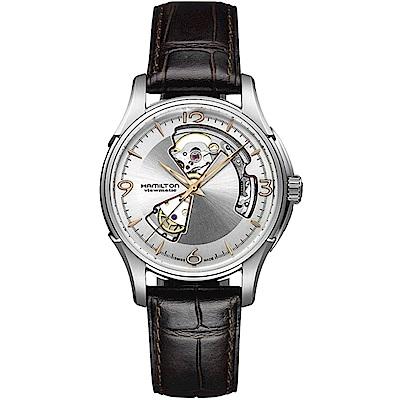 Hamilton 漢米爾頓 爵士系列OPEN HEART機械腕錶(H32565555)