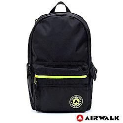 【AIRWALK】自遊宣言休閒後背包-黑色