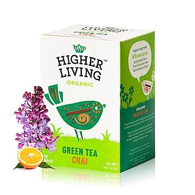 699免運 英國HIGHER LIVING 有機辛香綠茶20包共40g