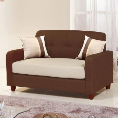 H&D 喬治雙座咖啡布沙發