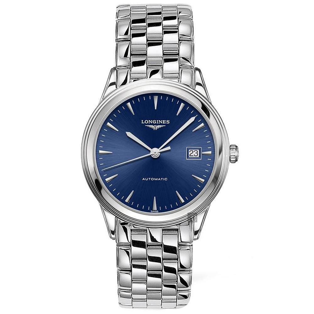 LONGINES浪琴 Flagship 經典機械錶(L49744926)-藍/38.5mm