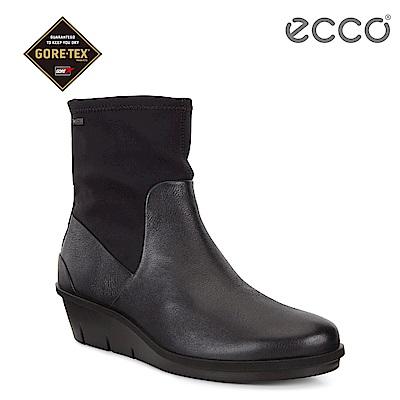 ECCO SKYLER 防水拼接設計柔軟高筒靴 女-黑