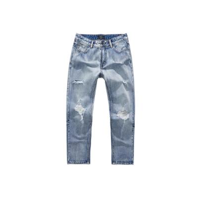 NAVY-破壞洗舊牛仔褲-男【WNA046】