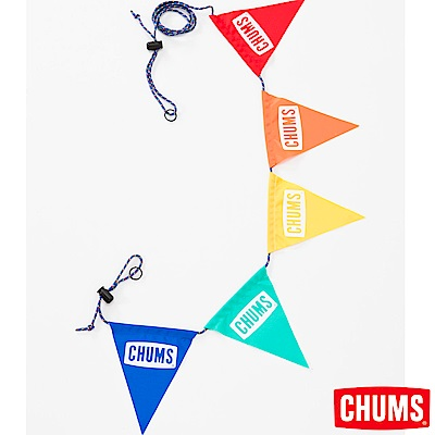 CHUMS 日本 露營三角彩旗 CHUMS LOGO