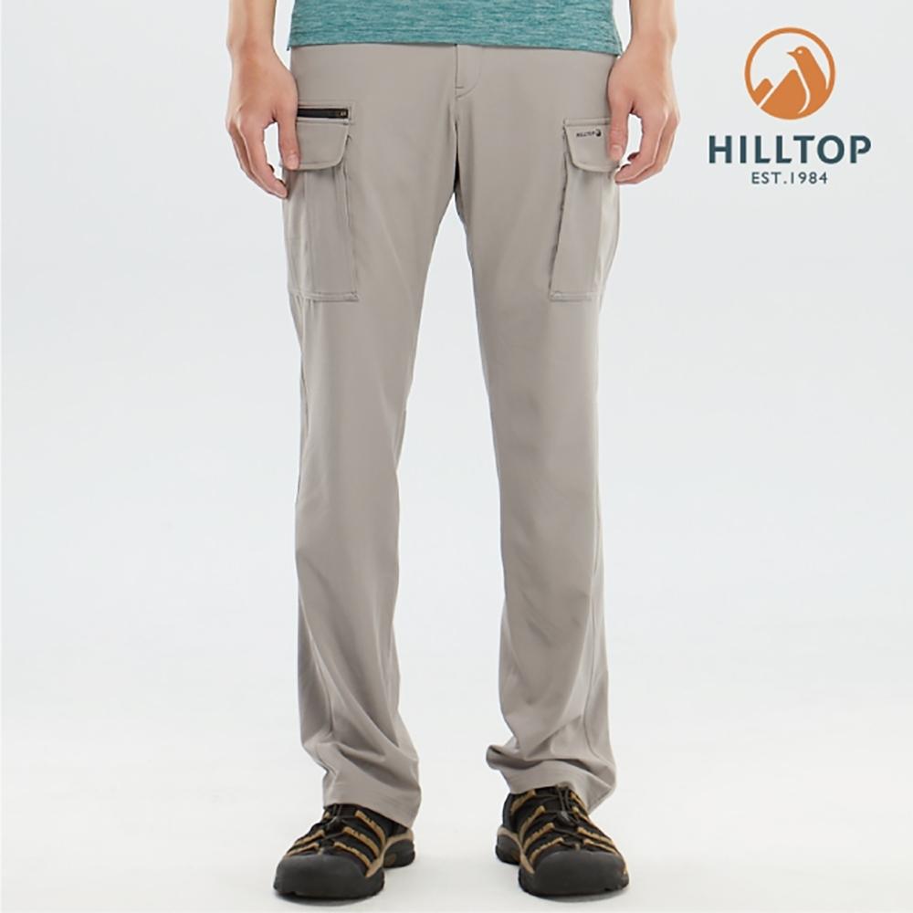 【hilltop山頂鳥】男款吸濕快乾彈性抗UV長褲S07MD0雲灰