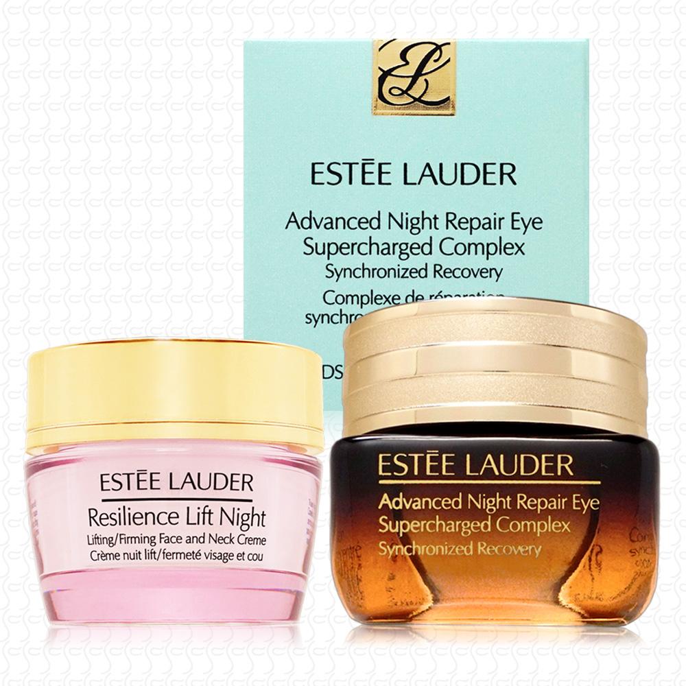 【真品平輸】ESTEE LAUDER 特潤眼部超能量修護霜15ml(贈緊顏霜15ml)