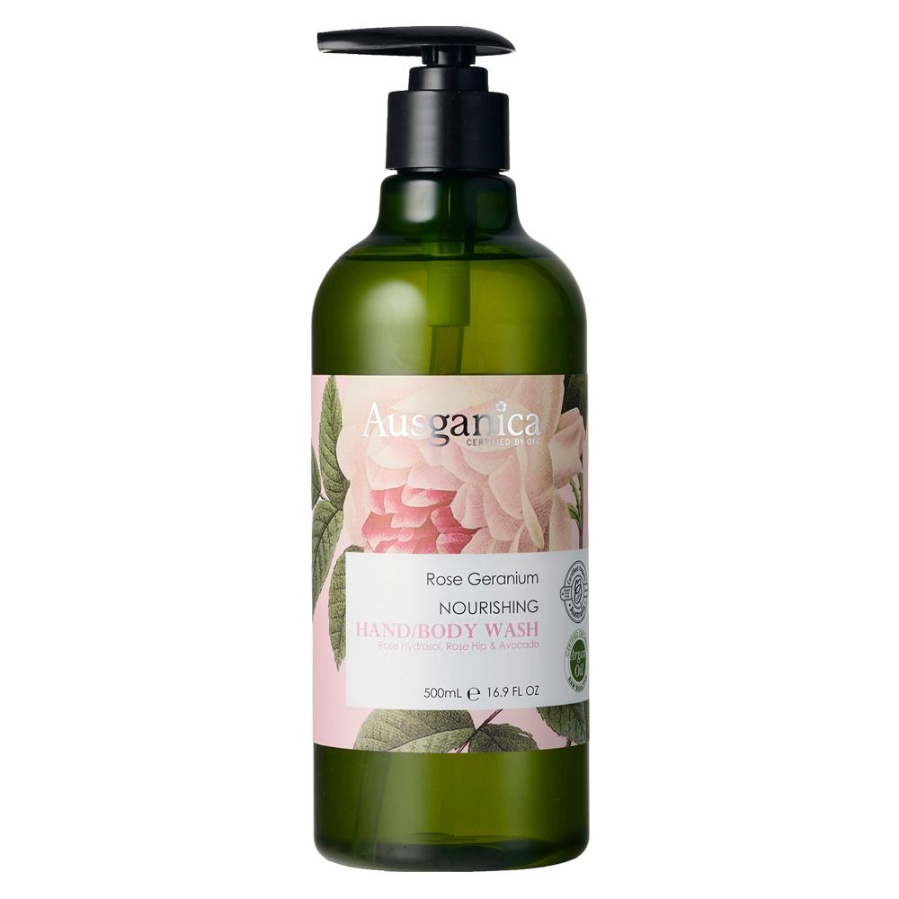 澳潔蕬Ausganica 頂級有機成份玫瑰天竺葵保濕沐浴乳(500ML)