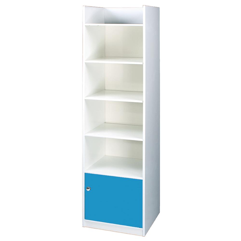 文創集 艾倫環保1.4尺塑鋼單門五格書櫃(四色)-43x40x199cm-免組