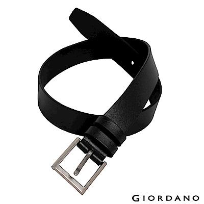 GIORDANO 經典款超值皮帶-09 經典黑