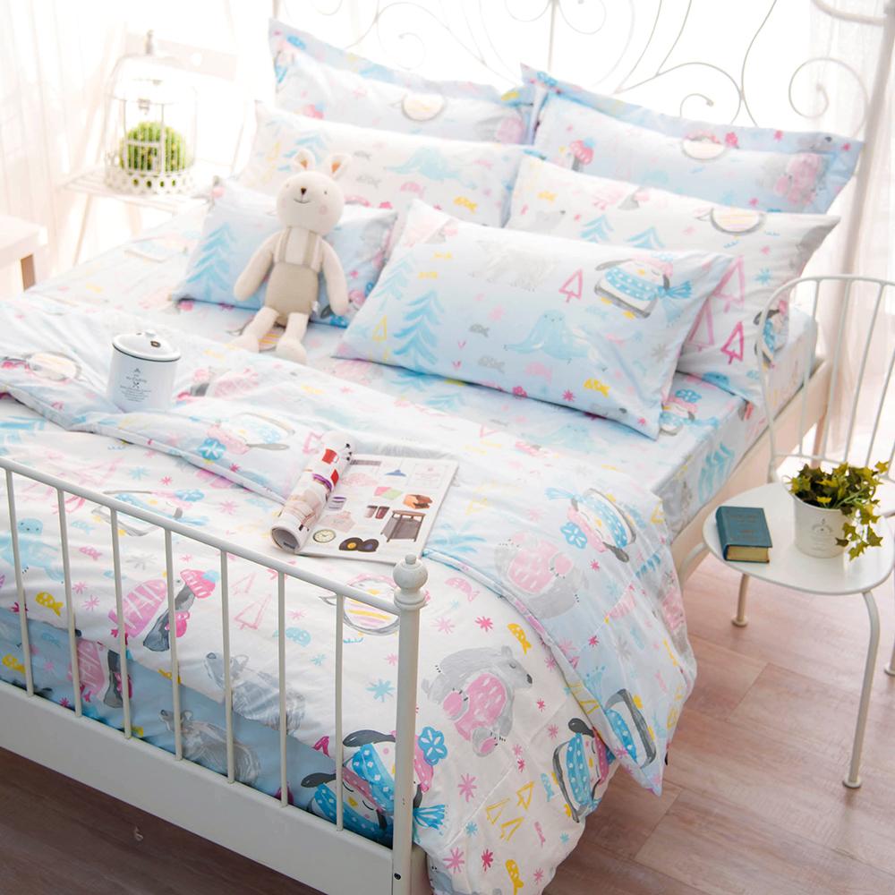 OLIVIA 冬季樂園 標準雙人床包冬夏兩用被套四件組 200織精梳純棉