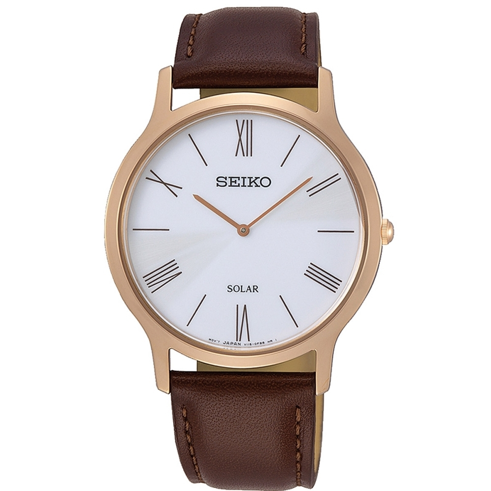 SEIKO 精工 太陽能腕錶-咖啡42mm(SUP854P1/V115-0BE0J) product image 1