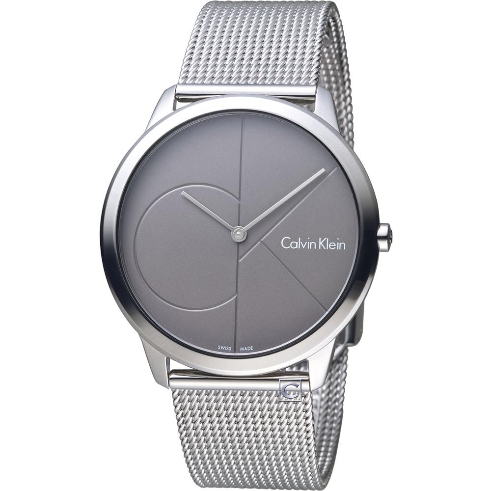 Calvin Klein minimal 大ck 簡約時尚米蘭錶帶腕錶(K3M21123)