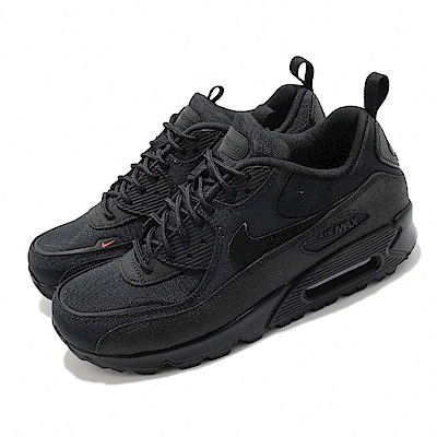 Nike 休閒鞋 Air Max 90 Surplus 男鞋 氣墊 舒適 避震 皮革 質感 軍事風格 黑 CQ7743001