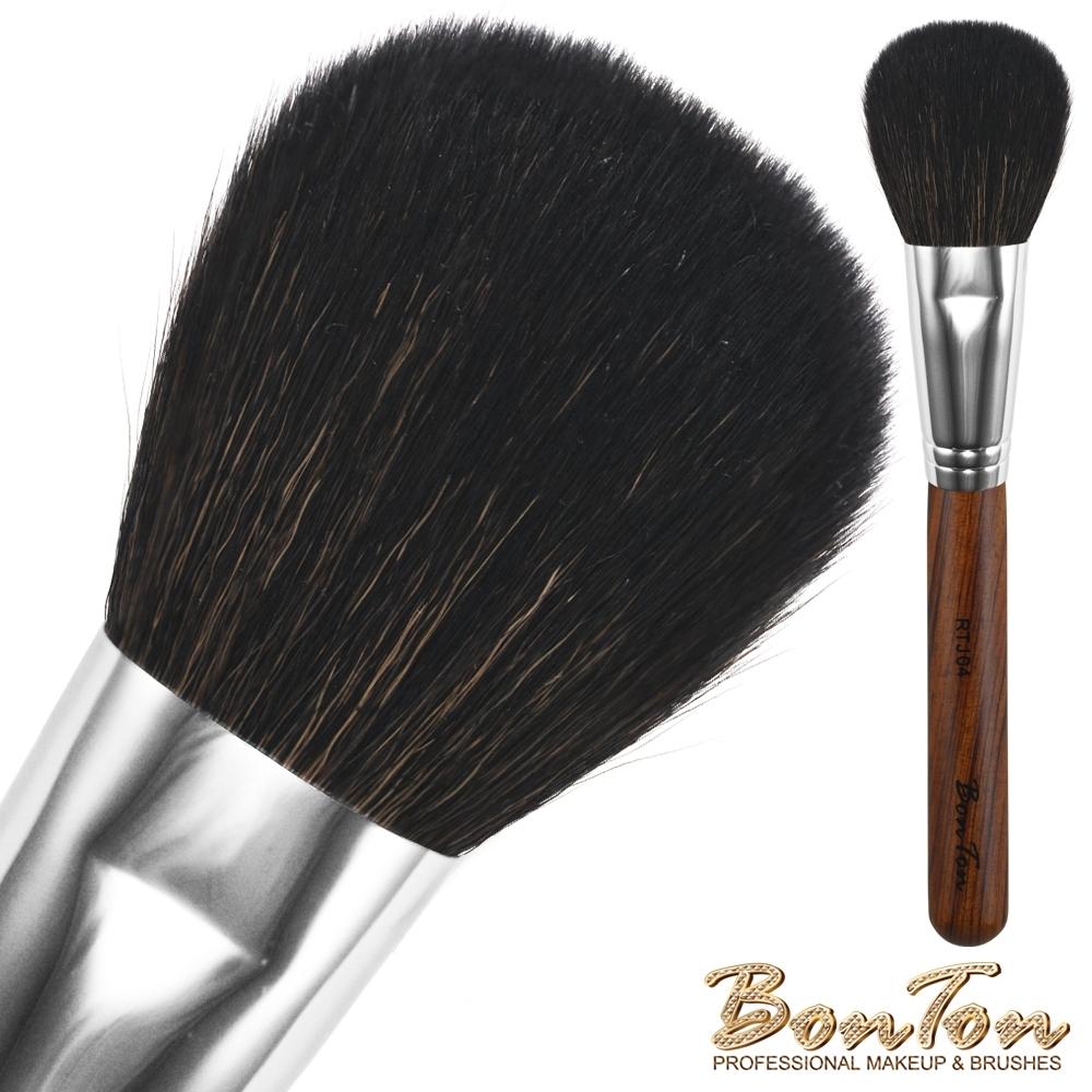 BonTon 原木系列 扁蜜粉/粉餅刷 RTJ04 特級尖峰羊毛