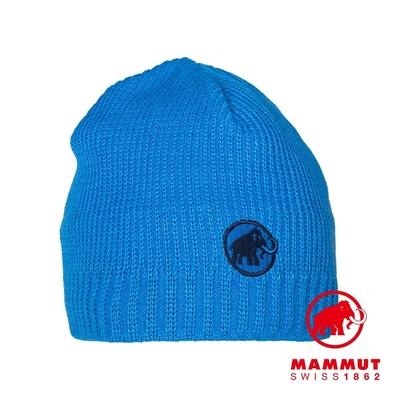 【Mammut】Sublime Beanie 刺繡LOGO保暖羊毛帽 冰藍  #1191-01542
