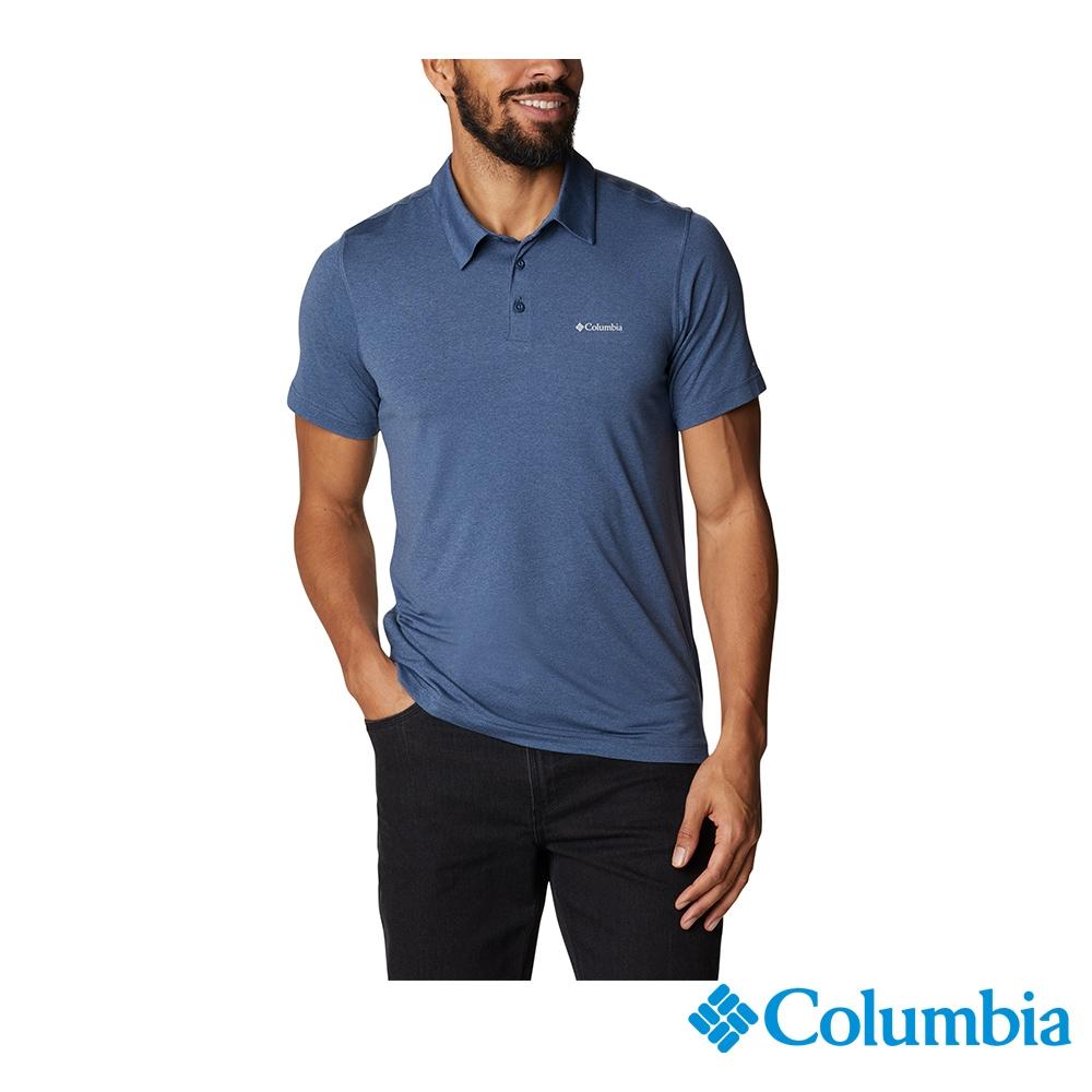 Columbia 哥倫比亞 男女款- UPF50快排短袖Polo衫-6色 活動款 (男款-墨藍)