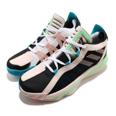 adidas 籃球鞋 Dame 6 GCA 運動 男鞋 愛迪達 Damian Lillard 鴛鴦 黑 粉 FY0875