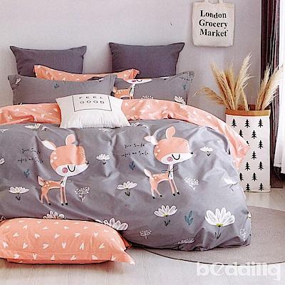 BEDDING-專櫃純棉5尺雙人薄式床包三件組-憧憬-灰